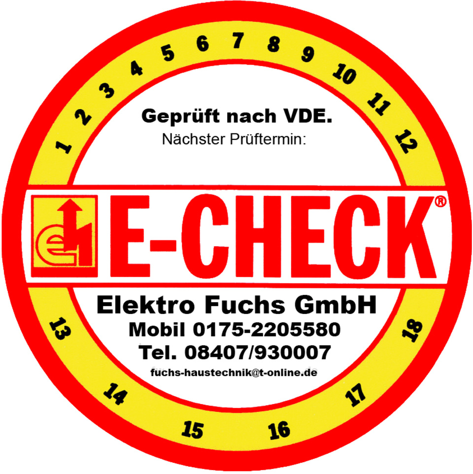 E Check Button bei Fuchs GmbH in Großmehring